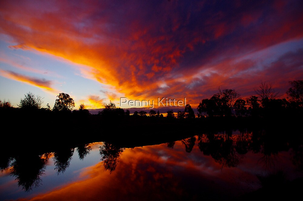 Liquid Sunset by Penny Kittel