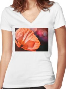 Catch the Light & Throw it Back Women's Fitted V-Neck T-Shirt