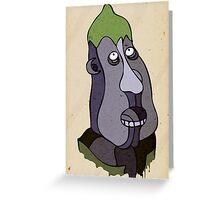 Monsieur Aubergine Greeting Card