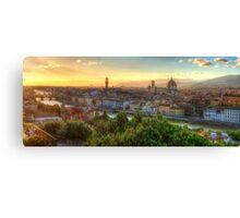 Florence Sunset Canvas Print