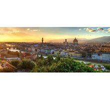 Florence Sunset Photographic Print