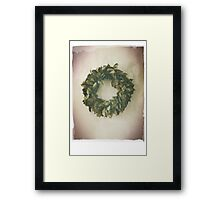 Antique Look Wreath of Dried Bay Leaves Framed Print
