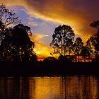 Ripples of golden sunset by kurrawinya