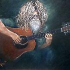 The Guitarist - David Falcone by Monica Vanzant