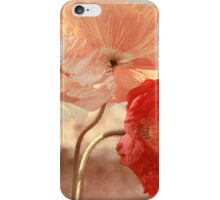 Poppies in Red, White & Peach iPhone Case/Skin