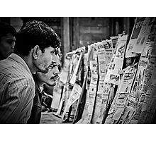 Men and The News II Photographic Print