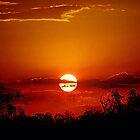 Bushfire Sunset by kurrawinya