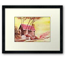 Red House R Framed Print