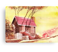 Red House R Canvas Print