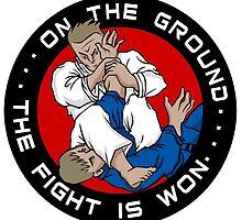 On the Ground, the Fight is Won by Jiu-Jitsu-Life