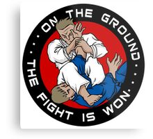 On the Ground, the Fight is Won Metal Print