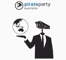 Pirate Party Australia : Global Surveillance Shirt by pirateparty