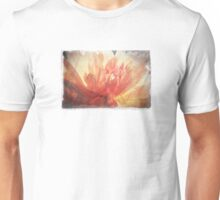 Antique Look Pretty Orange Flower Photograph Unisex T-Shirt