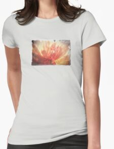 Antique Look Pretty Orange Flower Photograph Womens Fitted T-Shirt