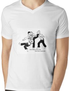 Tao of Pow Mens V-Neck T-Shirt