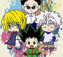 Gon, Killua, Kurapika and Leorio by Anuktoy