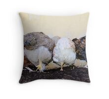 Chook bottoms Throw Pillow