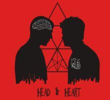 Kirk/Spock - Head/Heart //on light colours// Kids Tee