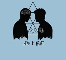 Kirk/Spock - Head/Heart //on light colours// Womens Fitted T-Shirt