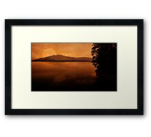 The Mountains, My Home Framed Print