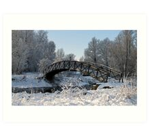 Bridge Snow Scene Art Print