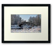 Bridge Snow Scene Framed Print