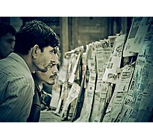 Men and the News Photographic Print