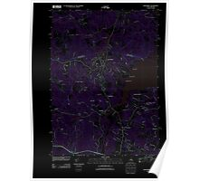 USGS TOPO Map New Hampshire NH Newmarket 20120607 TM Inverted Poster