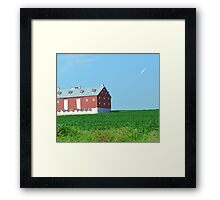 Barn Overlooking the Crops Framed Print