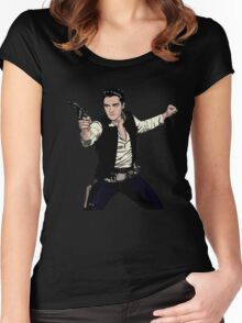 Han Elvis Solo Women's Fitted Scoop T-Shirt