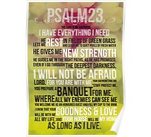 PSALM 23 - THE LORD'S PRAYER Poster