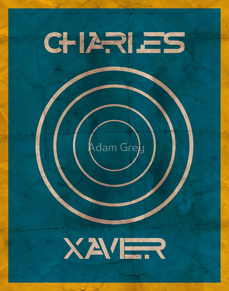 Minimalist Charles Xavier by Adam Grey