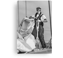 Hoisting sail Canvas Print