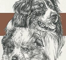 Australian Shepherd Father & Son by BarbBarcikKeith