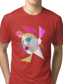 electric face Tri-blend T-Shirt