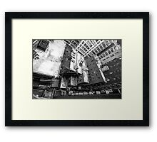 New York City Window View Framed Print