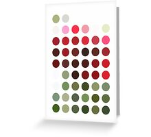 Red Rose with Light 1 Dots Greeting Card