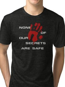 None of our secrets are safe Tri-blend T-Shirt