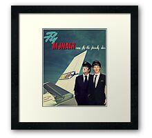 Vintage MJN Framed Print