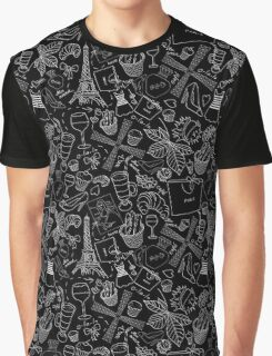 - Walking in Paris pattern 2 - Graphic T-Shirt