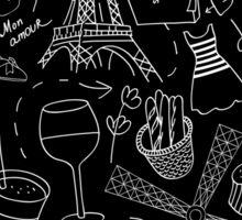 - Walking in Paris pattern 2 - Sticker