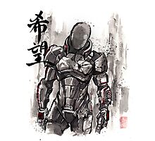 Commander Shepard from Mass Effect sumie style with HOPE Photographic Print