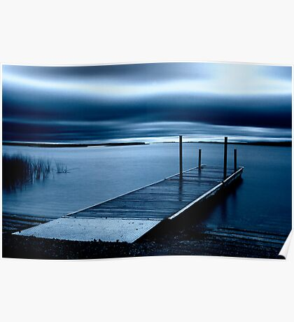 Blue Dawn - Leech Lake, MN Poster