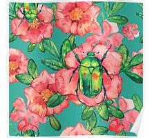 - Wild rose pattern - Poster