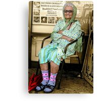 Old Lady in Chair, view 1 Canvas Print