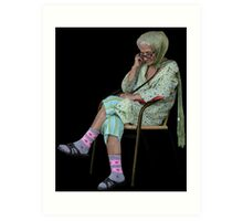 Old Lady in Chair, view 2 Art Print