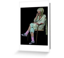 Old Lady in Chair, view 2 Greeting Card