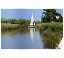 Sailing on the Norfolk Broads Poster