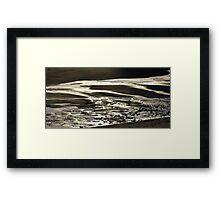 Folding Sand...... Framed Print