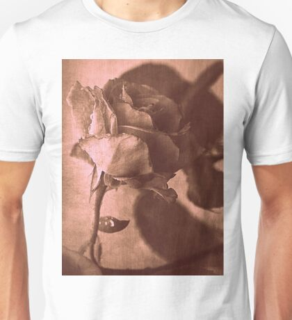 Intuitively Romantic in Sepia Unisex T-Shirt